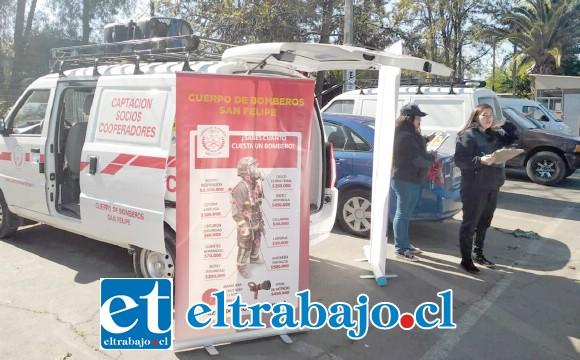 Este es el furgón a cargo de Juan Pablo Venegas, junto a personal en este caso mujeres que amablemente visitan sus domicilios.