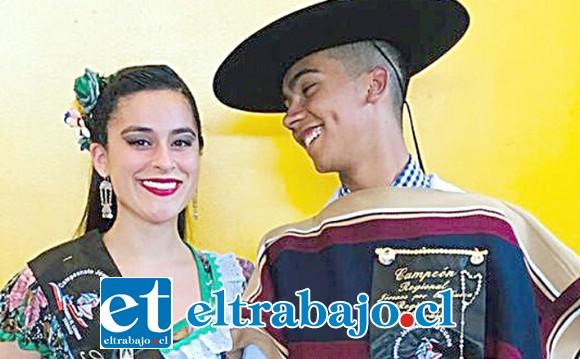 Daniela y Vicente, actuales campeones regionales 2018.
