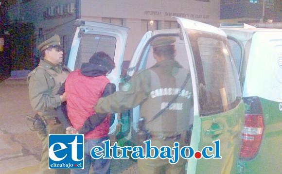 El imputado fue detenido por Carabineros de la Subcomisaría de Llay Llay. (Fotografía Referencial).
