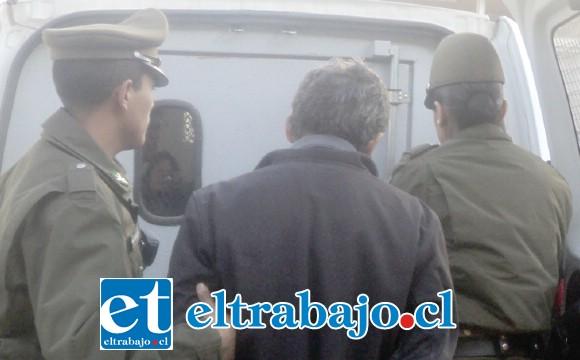 El imputado fue capturado por Carabineros de San Felipe y trasladado a tribunales, quedando en prisión preventiva por el delito de robo en lugar habitado. (Fotografía Referencial).