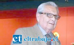Héctor Parada González, recordado folklorista, conductor de radio de San Felipe.