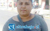 Jennifer Díaz, joven afectada.