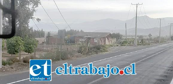 En este estado quedaron los cables del tendido eléctrico tras las manifestaciones producidas en Panquehue.