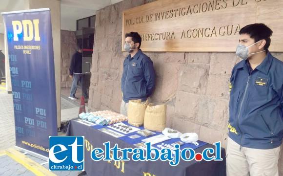 El procedimiento policial denominado 'Operación Proceso' culminó con la detención de un ciudadano chileno y un boliviano, quienes registran domicilio en Catemu.