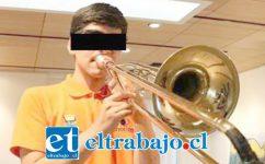 Este joven industrialino pertenece a la Banda Sinfónica de Los Andes (Fosila).