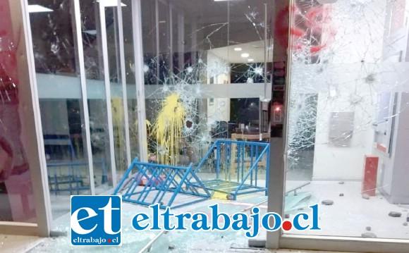 Banco Scotiabank con daños de consideración.
