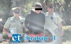 El joven imputado fue formalizado este martes en el Tribunal de Garantía de Putaendo como coautor de robo frustrado. (Fotografía: Putaendo Informa).
