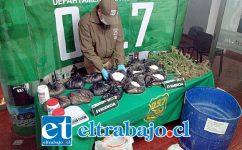 El 13 de junio del 2018 el personal de OS7 de Carabineros incautó más de 14 kilos de pasta base de cocaína y elementos químicos desde una vivienda ubicada en Población Luis Gajardo Guerrero de San Felipe.