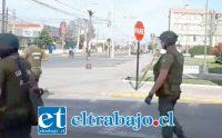 Fuerzas Especiales lanzaron gases disuasivos al interior del municipio de Llay Llay, cuando funcionarios realizaban actividades pacíficas en el marco de la movilización nacional.