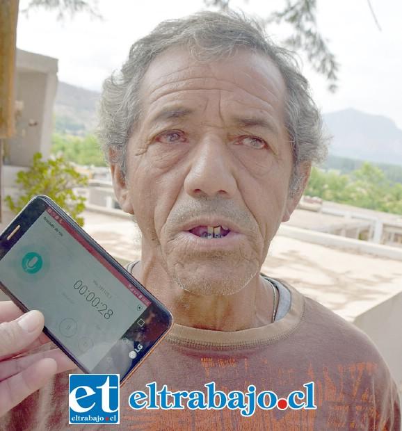 Omar Antonio Aguayo Toro, confirmó la historia del niño Carlitos en un saco papero.