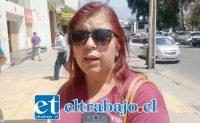 Claudia Collado, presidenta del Sindicato Nº2.