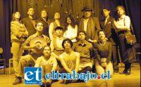 ELENCO DE LUJO.- Ellos conforman el elenco actual que estará actuando este lunes en el Teatro Roberto Barraza, con la obra La Enemiga del pueblo.