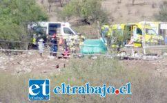 Al lugar del accidente concurrió personal de Bomberos, ambulancias del Samu y Carabineros la mañana de este sábado.