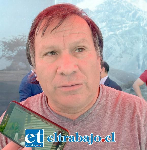 Manuel Carvallo, presidente del Consejo Superior de Taxis Colectivos de San Felipe.