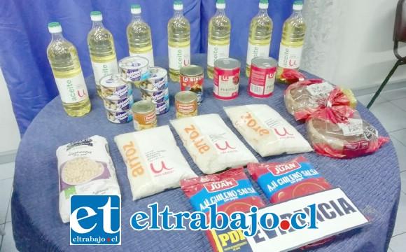 Las diligencias de la Policía civil arrojaron como resultado la incautación de estos productos alimenticios desde el inmueble de acusado en la comuna de Santa María.