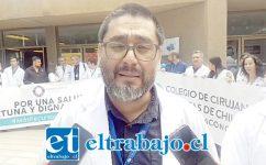 En la imagen el Dr. Pablo Cerda, presidente Capítulo Médico Hospital San Camilo. (Foto archivo).