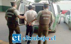 El imputado fue capturado por Carabineros siendo formalizado por Robo con intimidación, quedando sujeto a la cautelar de Prisión Preventiva. (Fotografía Referencial).