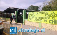 Frontis de la Escuela Almendral ubicada en Calle Belisario Montenegro.