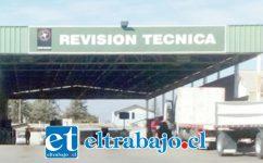 Esta es la actual planta de revisión técnica de San Felipe que continuará funcionando en forma normal hasta nuevo aviso.
