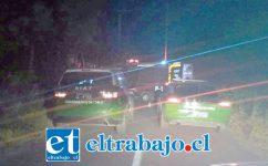 El fatal accidente ocurrió cerca de las 20:40 horas de este domingo en la ruta que conduce hacia el sector de Reinoso en Catemu, falleciendo un motociclista de 55 años de edad.