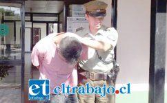 El imputado fue detenido en febrero de este año por Carabineros de la Tenencia de Santa María.