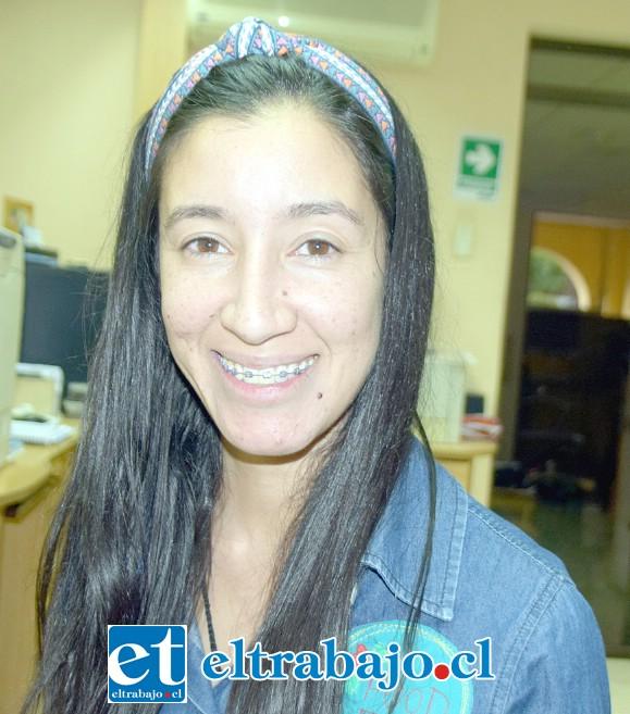Liseth Cortés, una de las dueñas de la panadería.