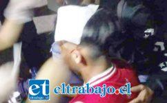 Un joven de 18 años de edad resultó con lesiones graves tras el impacto de perdigones en su cabeza. (Fotografía: Radio Preludio).