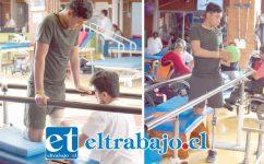 Santiago Poblete Arredondo, exalumno del Liceo Industrial de San Felipe, lucha por volver a caminar y ser el deportista que tanto anhela. El joven sigue recibiendo una terapia intensiva en la Fundación Teletón en la región Metropolitana.