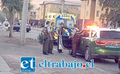 Carabineros concurrió hasta el sector de Villa El Totoral de San Felipe, desmintiendo la ocurrencia de una balacera en el sector, informando que se trató de una persona lesionada con arma blanca.