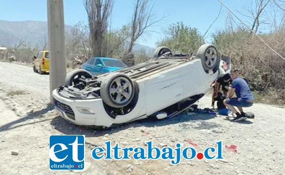 El Bomberos debió ser trasladado hasta el servicio de urgencias del Hospital San Camilo de San Felipe.