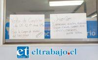 Este fue el letrero que apareció en la sección Archivo del SOME del Policlínico de Especialidades del San Camilo.