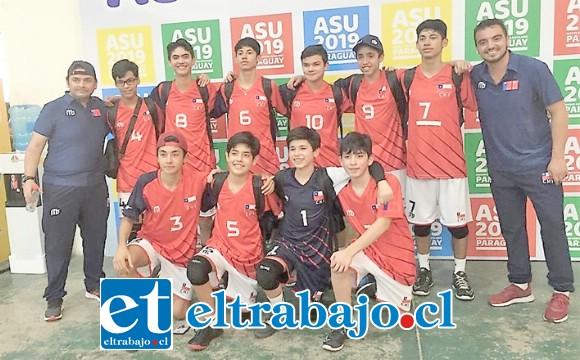HISTÓRICO.- Una presentación notable cumplió la selección del IAC en el Sudamericano Escolar realizado en Paraguay.
