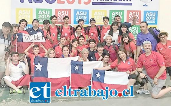 Los niños en todo momento sintieron apoyo al ser acompañados por sus familiares a Paraguay.