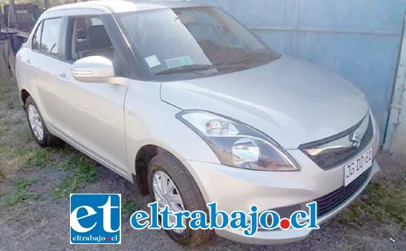 Este es el vehículo que lograron robar los asaltantes la madrugada de este domingo en el sector El Algarrobal de San Felipe.
