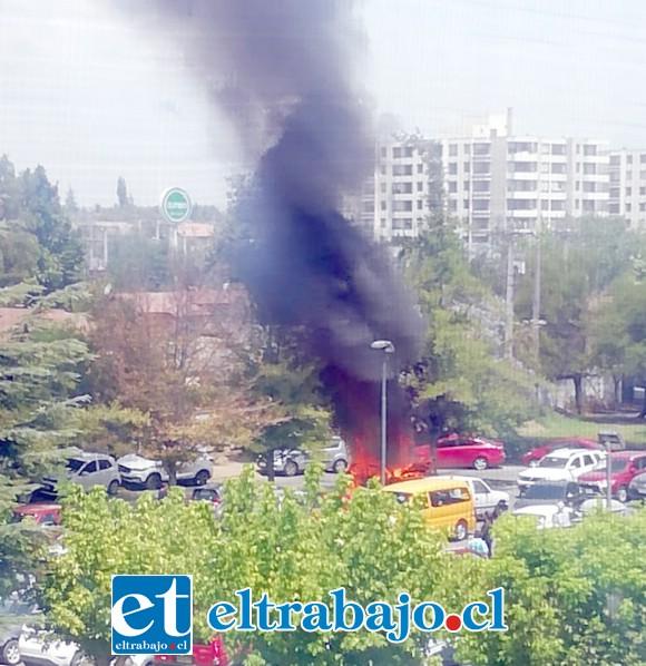 El hecho se originó cerca de las 15:00 hora de ayer lunes en los estacionamientos del Hospital San Camilo de San Felipe.