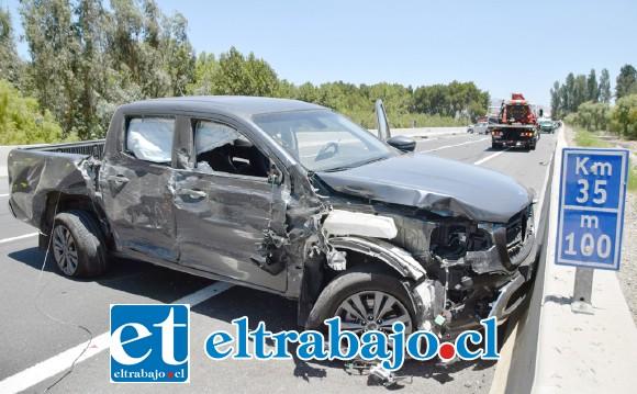 La violenta colisión ocurrió en el kilómetro 35 de la ruta 60 CH en Panquehue.