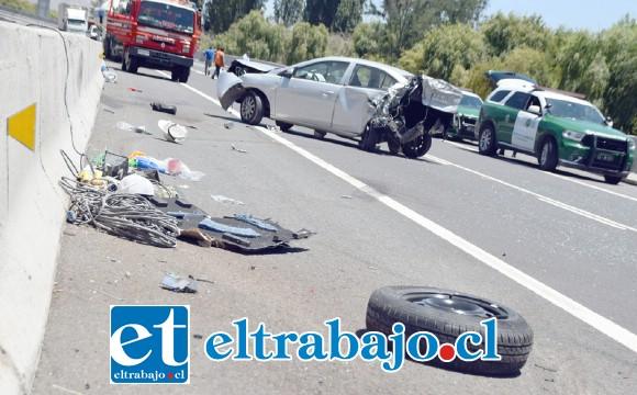 Uno de los protagonistas de este accidente resultó con lesiones de carácter grave.
