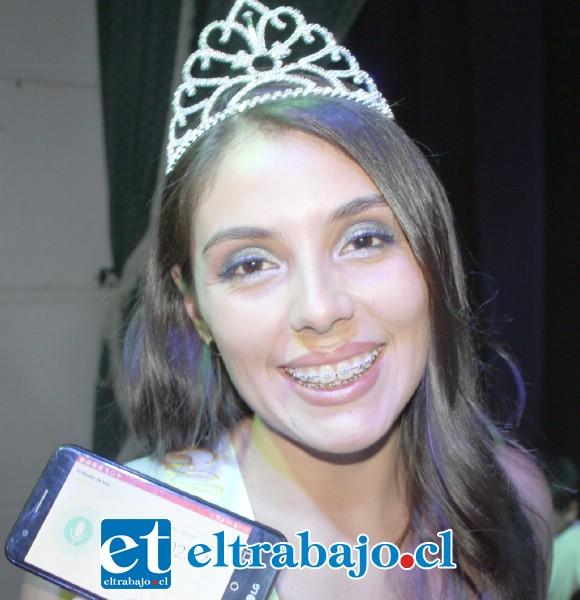 Miss Valle de Aconcagua 2020, Alexa Chamorro.