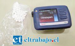 Más de cien dosis de Clonazepam fueron incautadas por Gendarmería la tarde de ayer martes.