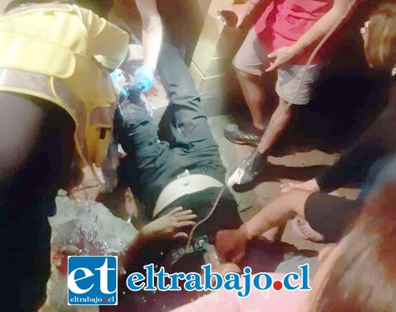 El paciente fue atendido por personal del Samu para luego ser derivado hasta el Hospital San Juan de Dios de Los Andes.