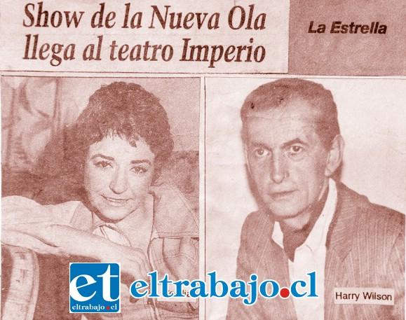 GRANDE WILSON.- Aquí vemos uno de los tantos anuncios en la prensa en el que aparece 'Harry Wilson' anunciado al lado de Cecilia.