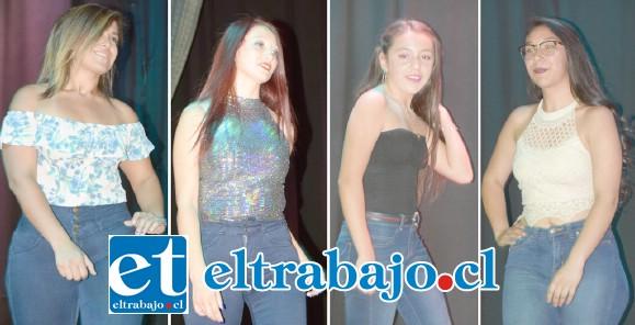 SIEMPRE BELLAS.- Mujeres jóvenes y adultas desfilaron con elegancia frente al masivo público en la gala de presentación del primer Miss Valle del Aconcagua 2020, en San Felipe.