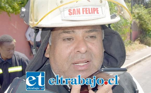 Comandante de Bomberos, Juan Carlos Herrera Lillo.