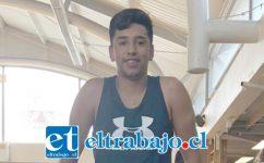 Santiago anhela convertirse en atleta y participar de los Paraolímpicos.