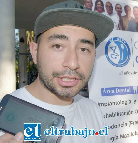 Nicolás Gómez, encargado de Proyectos de Sedent San Felipe.