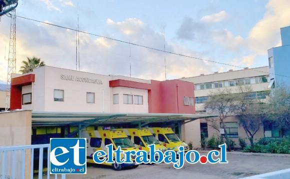 El afectado fue trasladado hasta el Servicio de Urgencias del Hospital San Camilo de San Felipe, la madrugada de este sábado.