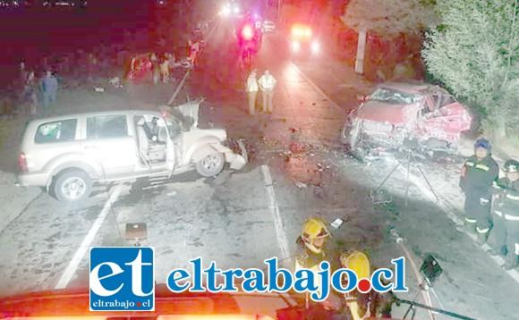 Las causas del accidente están siendo investigadas por parte de la SIAT de Carabineros de San Felipe.