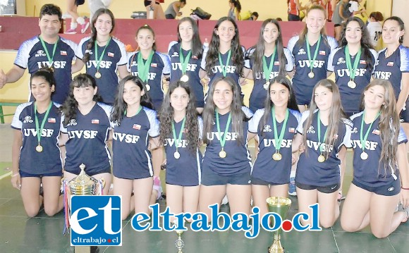 Los equipos U16 y U18 de Unión Volley fueron los mejores de sus respectivas categorías en la Copa Salamanca 2020