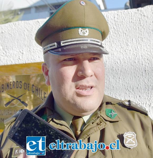 Capitán Franco Herrera, comisario (S) de la Segunda Comisaría de Carabineros San Felipe.