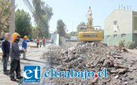 OBRAS AVANZAN.- Las cámaras de Diario El Trabajo registran los trabajos de demolición que desde enero se están ejecutando en el plantel policial.
